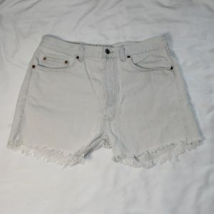 Vintage Levi Cut Off Frayed Distressed Jean Shorts